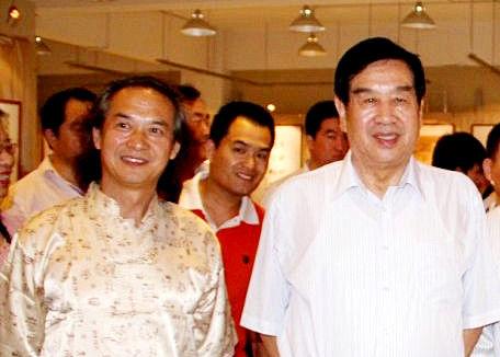 黄明大师与全国政协副主席李蒙交流